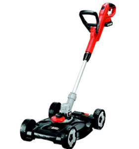 BLACK+DECKER 18 V Lithium-Ion Strimmer with Lawnmower Deck  image 1