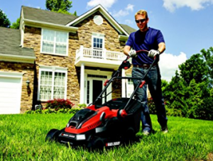 BLACK+DECKER Lithium-Ion Lawn Mower with Two 2 Ah Batteries image 2